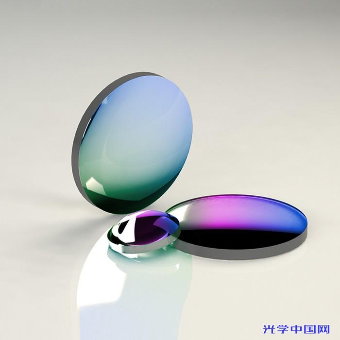 氟化钙(CaF2)平凸透镜 直径D=25.4mm 焦距F=50.0~500.0mm 增透膜