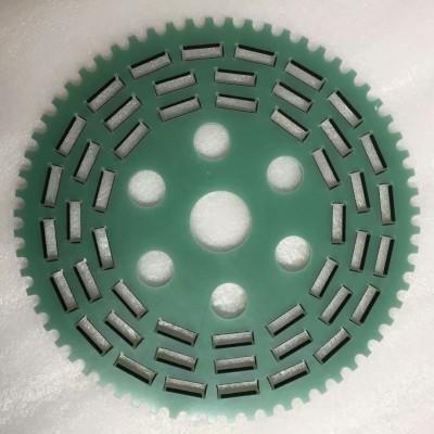 定制非标牙轮水绿色玻纤板加工环氧板游星轮 研磨加工 齿轮加工